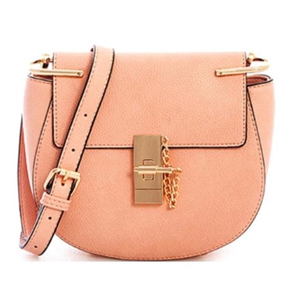 77584b1744c Boutique Brands Bags   Rose Designer Inspired Faux Leather Saddle ...